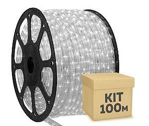 Mangueira LED Branco Frio 100 metros 110v Ultra Intensidade - À prova d'água