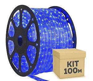 Mangueira LED Azul 100 metros Ultra Intensidade - À prova d'água