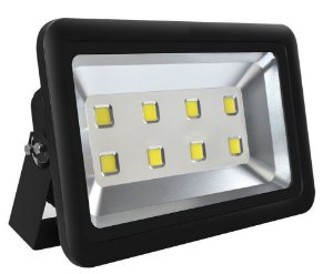 Refletor Holofote LED 400w Branco Frio Preto