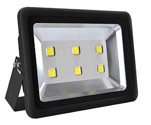 Refletor Holofote LED 300w Branco Frio Preto