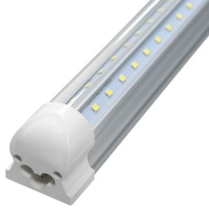 Lâmpada LED Tubular T8 18W 1,20m Cristal c/ Calha - Branco Quente