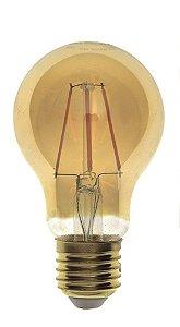Lampada LED Bulbo A60 4W Vintage Carbon Branco Quente | Inmetro