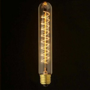 Lampada LED Tubular T30 4W Vintage Carbon   Branco Quente   Inmetro