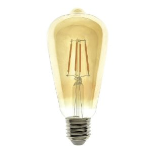 Lâmpada LED Pera 4w Vintage ST64 Branco Quente | Inmetro