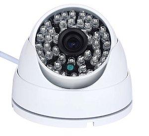 Câmera Segurança de LED Dome Infravermelho AHD 36 LEDs 1200TVL