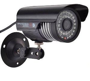 Câmera Segurança de LED Bullet Infravermelho HD 36 LEDs Preta