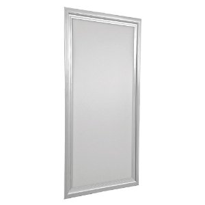Luminária Plafon 30x60 18w LED Embutir Branco Quente Borda Aluminio