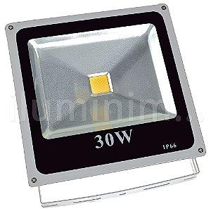 Kit 10 Refletor Holofote LED 30w Branco Quente