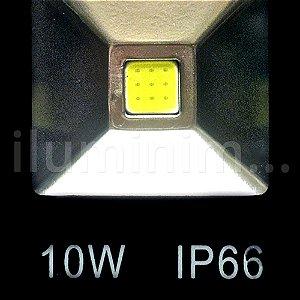 Kit 20 Refletor Holofote LED 10w Branco Frio Preto