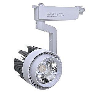 Spot LED 30W Branco Quente para Trilho Eletrificado Branco
