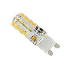 Kit 10 Lampada LED Halopin G9 3w Branco Quente 110V | Inmetro
