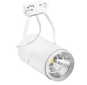 Spot LED Cob 30w 3500K para Trilho Eletrificado Branco