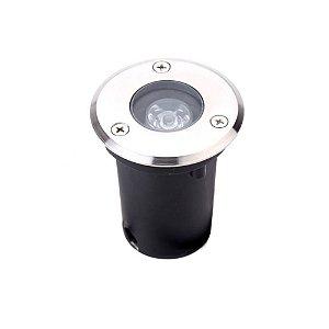 Spot Balizador LED COB 1W Branco Quente para Piscina