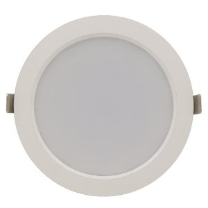 Luminária Plafon 25w LED Embutir Concavo Branco Frio
