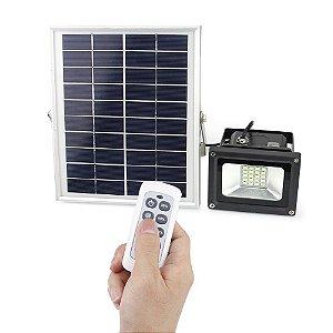 Refletor LED Solar 10w 25 Leds Auto Recarregável
