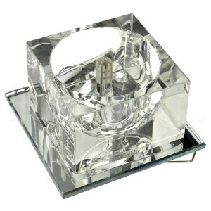 Spot Cristal Led Quadrado Embutir G4 2w