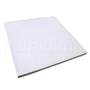 Luminária Plafon 60x60 48W LED Sobrepor Branco Frio Borda Branca
