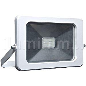 Refletor MicroLED Ultra Thin 50W Branco Frio Pure White