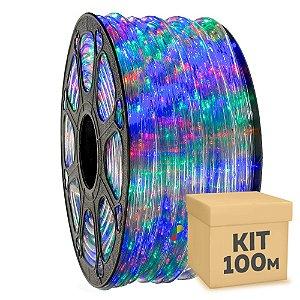 Mangueira LED RGB 100 metros 220v Ultra Intensidade - À prova d'água