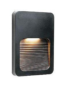 Balizador LED 2W De Sobrepor Externo Preto Fit