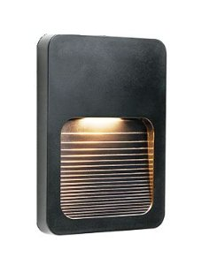Balizador LED 2W De Sobrepor Branco Quente Preto