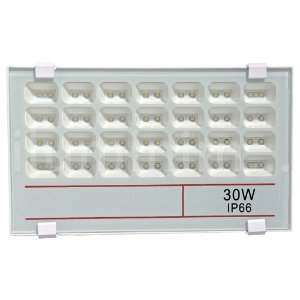 Refletor Holofote MicroLED 30W Multifocal Branco Frio Fosco