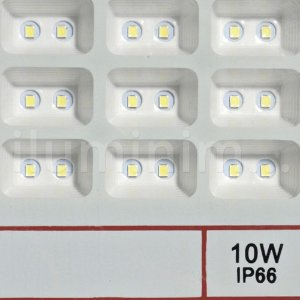 Refletor Holofote MicroLED 10W Multifocal Branco Frio Fosco