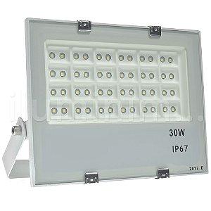 Refletor Holofote MicroLED 30W Multifocal Branco Frio Metálico