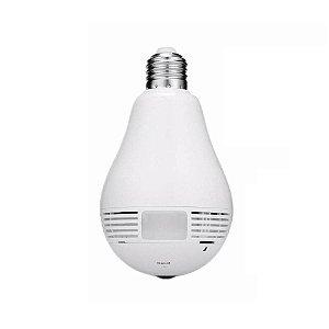 Lâmpada LED 12w Câmera Wifi Panorâmica 360° | Inmetro