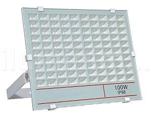 Refletor Holofote MicroLED 100W Multifocal Branco Frio Fosco