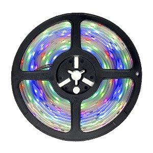Fita LED Digital RGB Colorida 6803 5 metros IP65 com Fonte