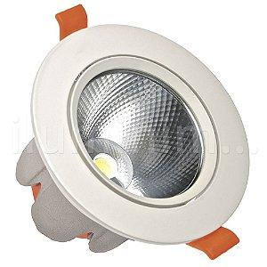 Spot LED COB 10W Embutir Direcionável Branco Frio