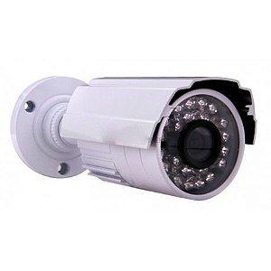 Câmera Segurança de LED Bullet Infravermelho HD 24 LEDs 1200 Linhas