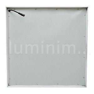 Luminária Plafon 40x40 42w LED Sobrepor Branco Quente