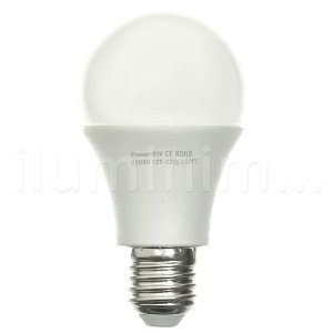 Lâmpada Bulbo LED A60 8W Bivolt Branca - Amarela