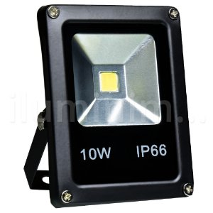 Refletor Holofote LED 10w Branco Quente Preto