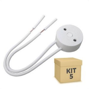 Kit 5 Soquete Para Lâmpada LED Tubular T8 | Inmetro