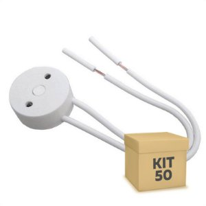 Kit 50 Soquete Para Lâmpada LED Tubular T8