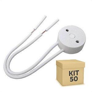 Kit 50 Soquete Para Lâmpada LED Tubular T8 | Inmetro