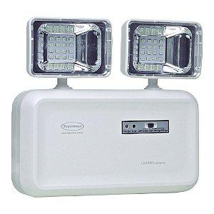 Luminária de Emergência LED 600 Lúmens | 2 Faróis