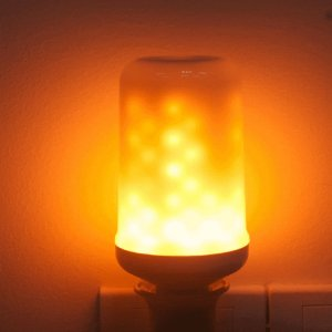 Lâmpada LED 5W Efeito Chama Fogo E27