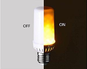 Lâmpada LED 5W Efeito Chama Fogo E27 | Inmetro