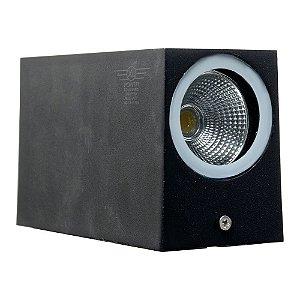 Luminária Arandela LED 10W Branco Quente Retangular