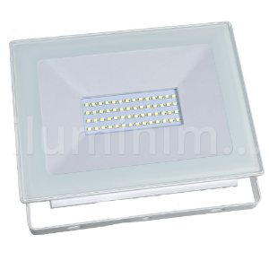 Refletor MicroLED Ultra Thin 50W Branco Frio White Type