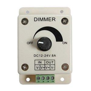 Dimmer Controlador Ajustável 8A Para Fita Led 1 Cor