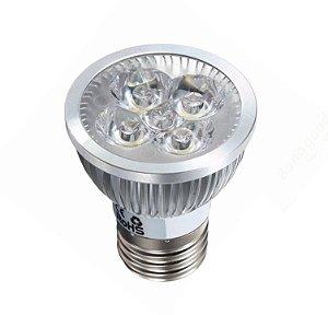 Lâmpada Par20 LED 5w Bivolt Branco Frio Aro Cromado