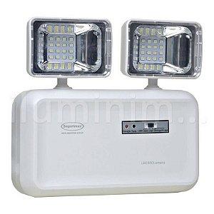 Kit 2 Luminária de Emergência LED 600 Lúmens | 2 Faróis