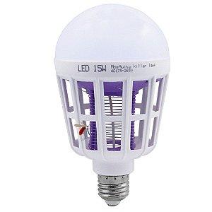Lâmpada LED 15W Repelente de Mosquitos Insetos Branco Frio