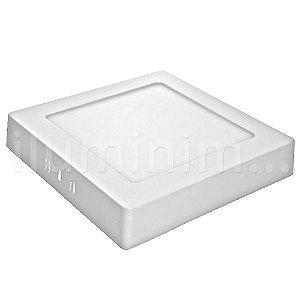 Kit 10 Luminária Plafon 12w LED Sobrepor Branco Frio