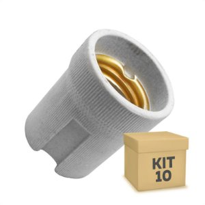 Kit 10 Adaptador Soquete LED E-27